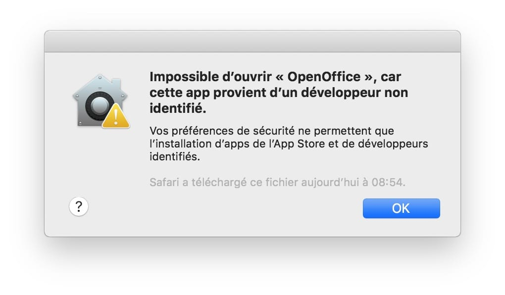 Ouvrir les app non identifiees sur macOS Mojave impossible douvrir