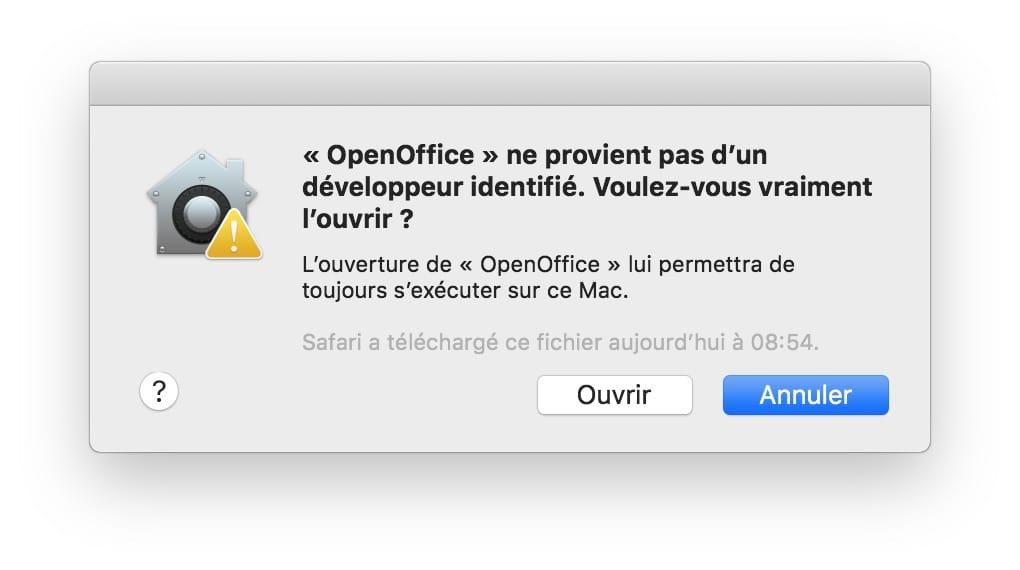 Ouvrir les app non identifiees sur macOS Mojave voulez vous vraiment louvrir