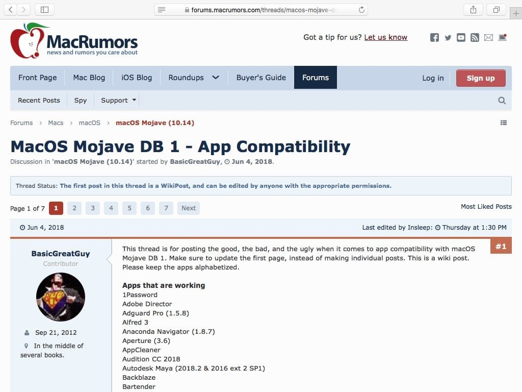 apps compatibles macOS Mojave App Compatibility Mojave 10.14