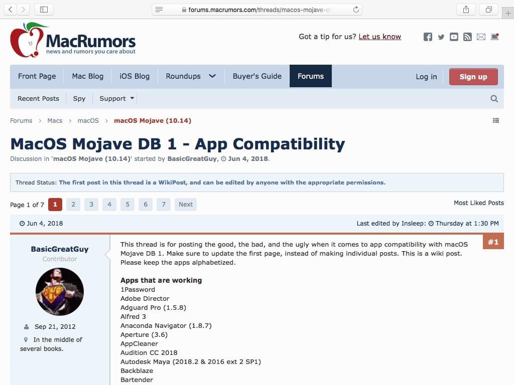 Liste des apps compatibles macOS Mojave (10 14) - MacBookCity