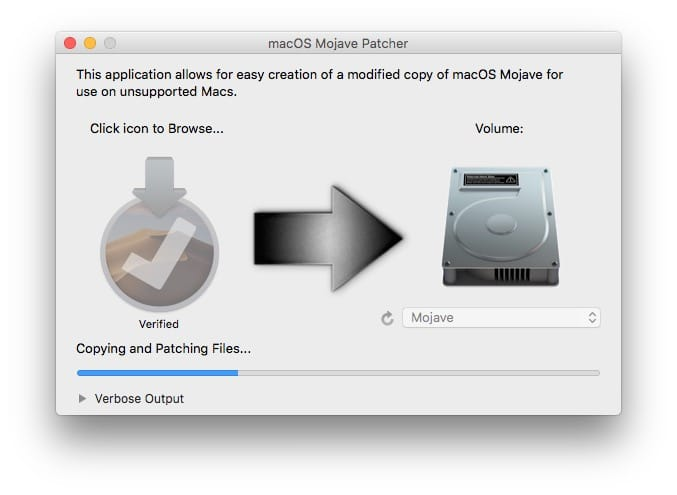 Installer macOS Mojave sur un Mac non compatible creation clef