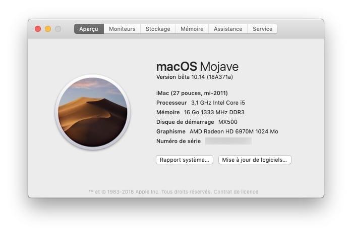 Installer macOS Mojave sur un Mac qui ne l accepte pas