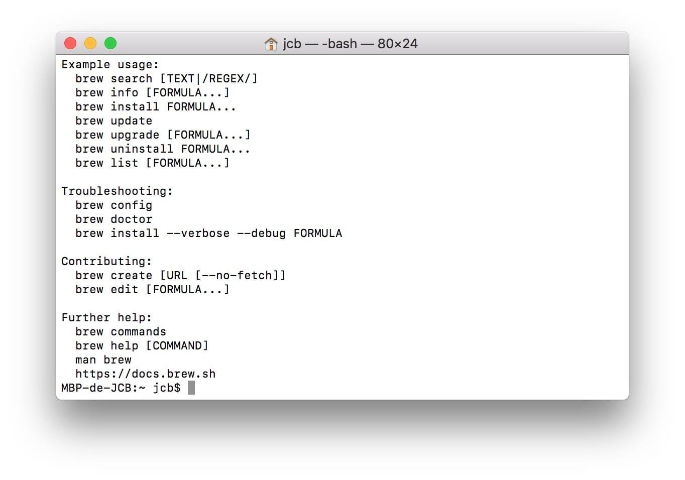 Installer Homebrew sur Mac (macOS / Mac OS X) - MacBookCity