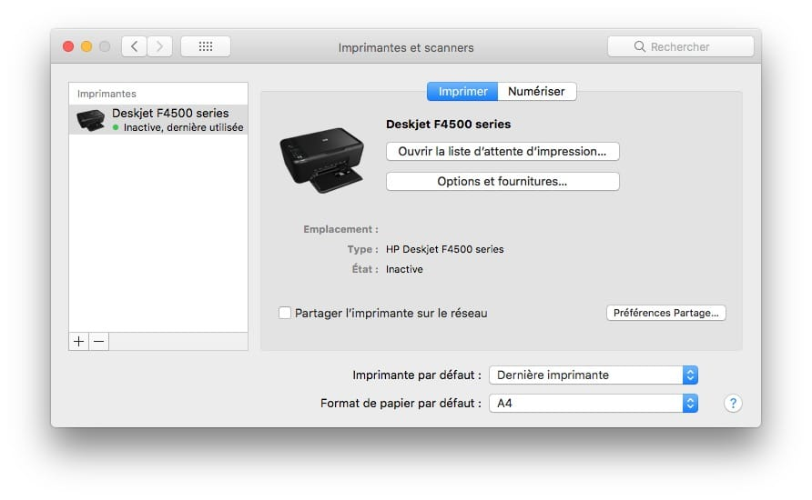 installer un scanner sur mac en USB