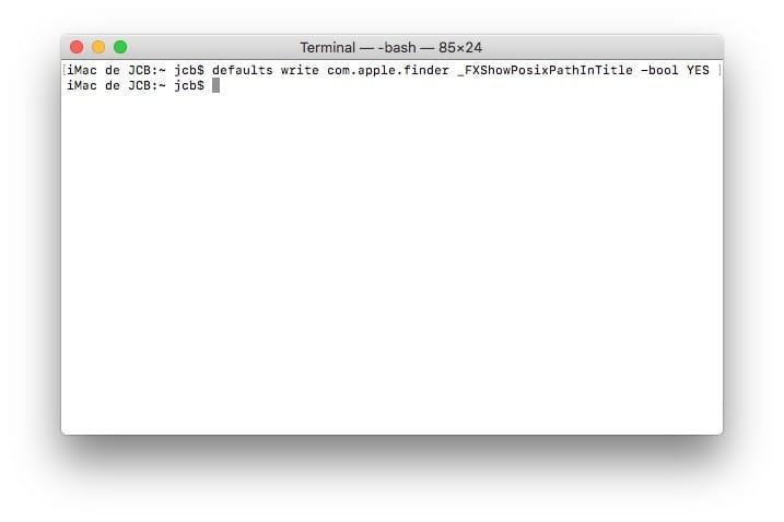 Afficher le chemin d'accès d'un fichier sur Mac en haut du finder