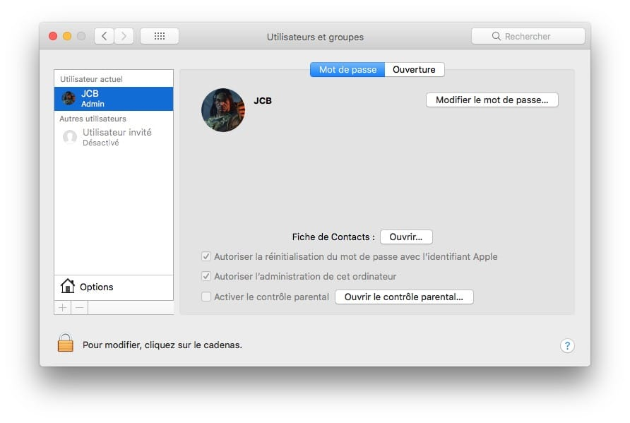 Changer le mot de passe de son Mac modifier le mot de passe