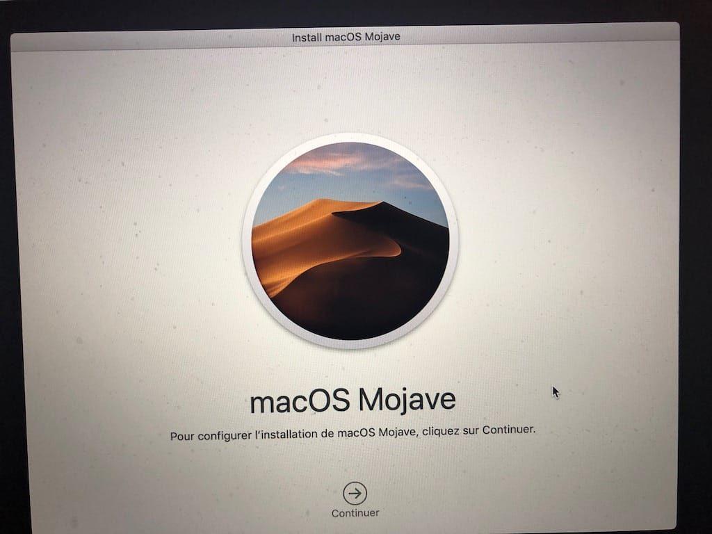 Reinstaller macOS Mojave en cas de problemes