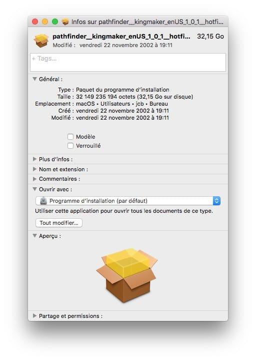 Desactiver la verification pour un fichier PKG sur Mac pour booster installation fichier