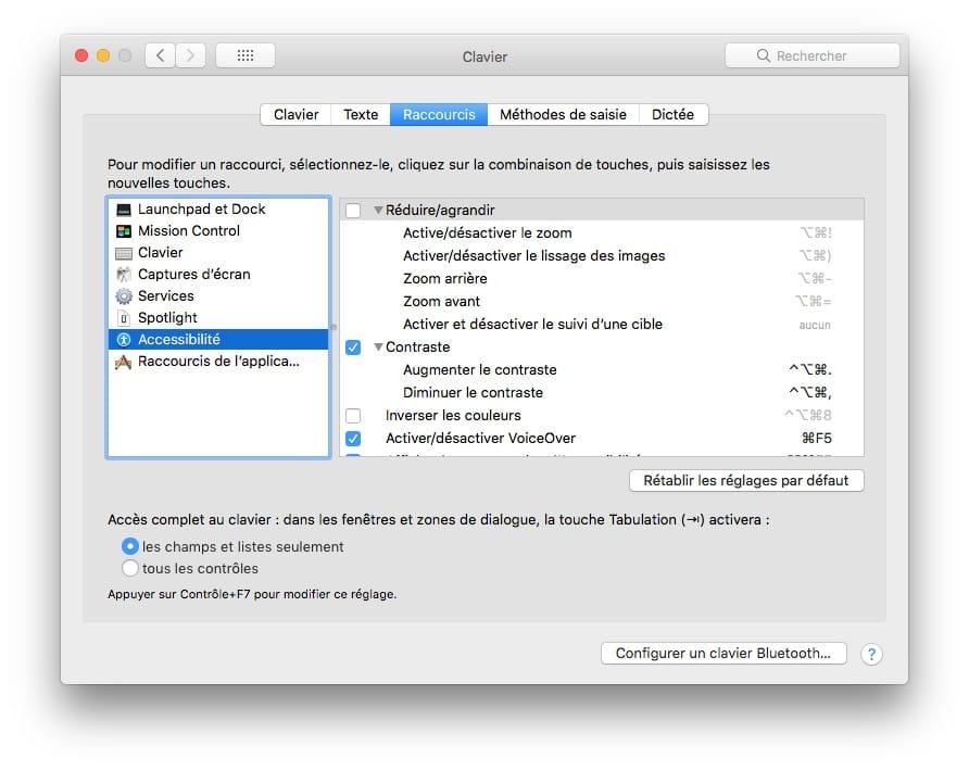 Regler le contraste de son Mac Accessibilite