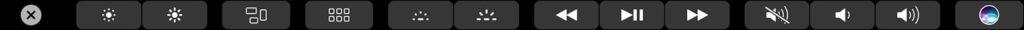 Regler le clavier retroeclaire du MacBook avec touchbar