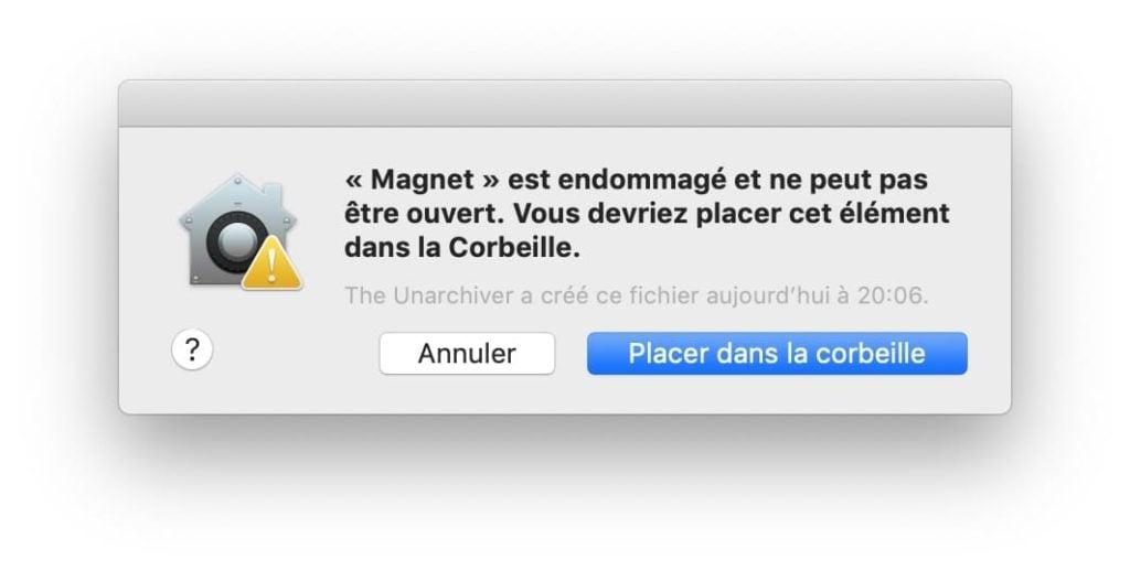 Réparer une application mac endommagée