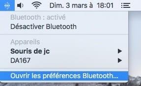 Supprimer un peripherique bluetooth sur mac