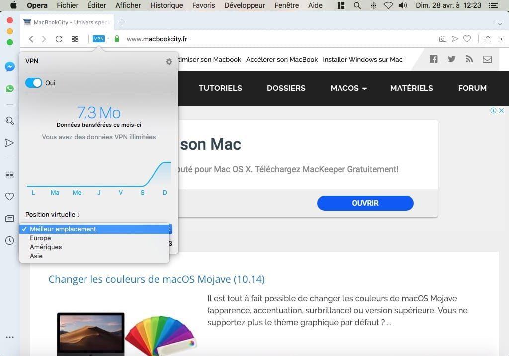 change ip avec vpn sur mac