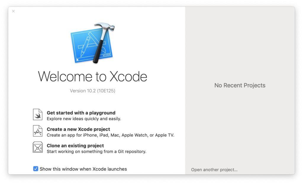 installer Xcode macos Mojave ios tvos watchos