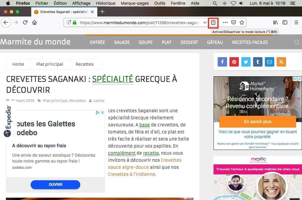 Enregistrer une page web en PDF sur Mac avec Firefox