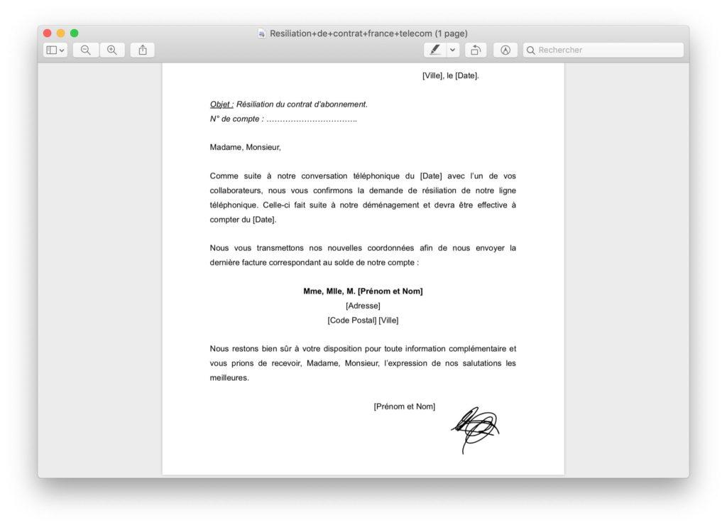 deplacer signature sur document mac