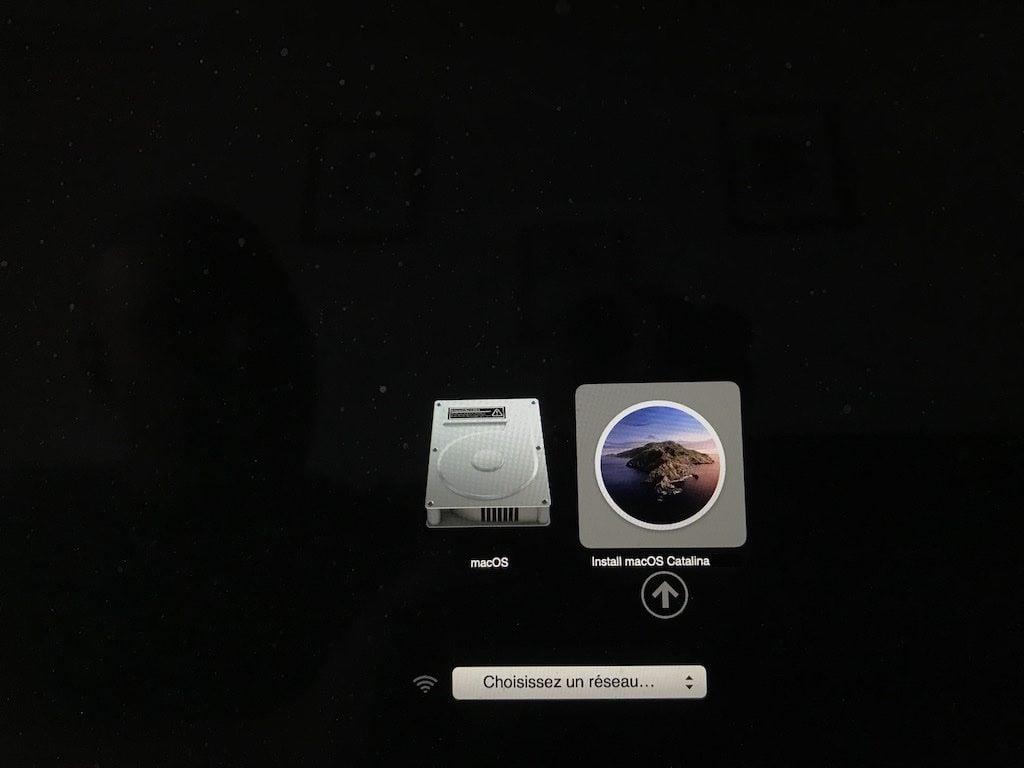 Clé USB bootable de macOS Catalina booter dessus avec Option alt