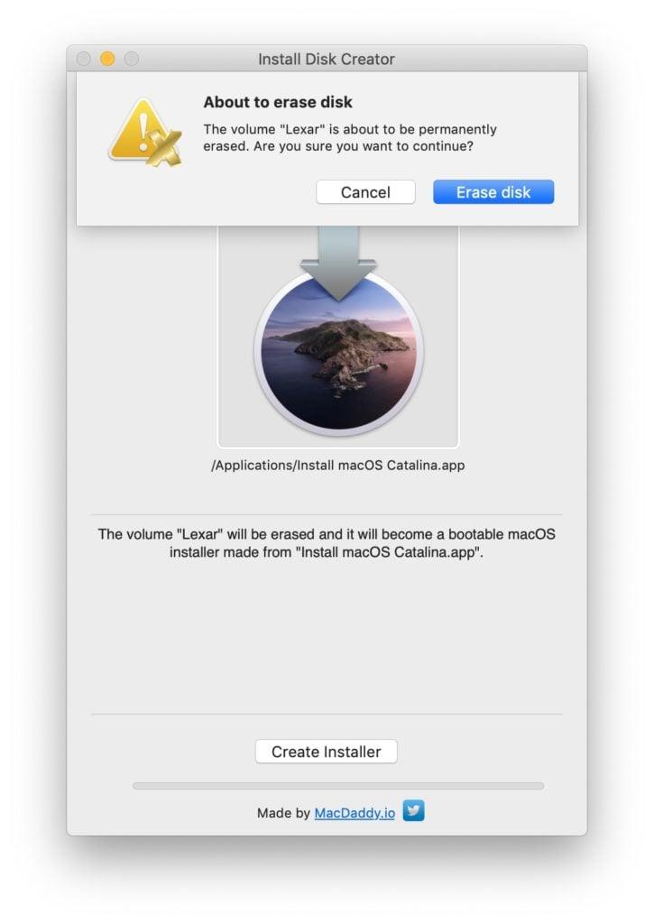 disque usb bootable pour macos catalina 10.15
