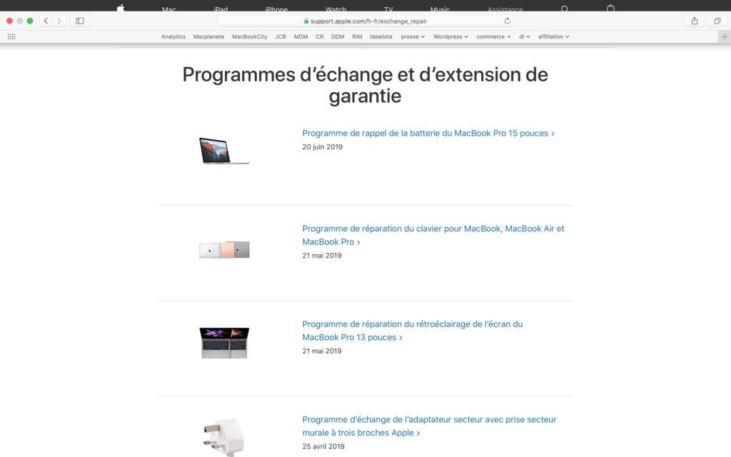 liste programmes d echange apple clavier batterie iphone adaptateur secteur