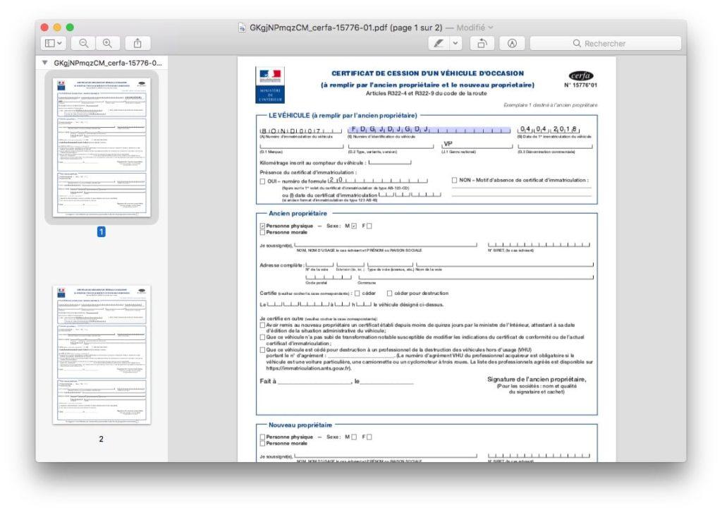 remplir formulaire pdf sur mac