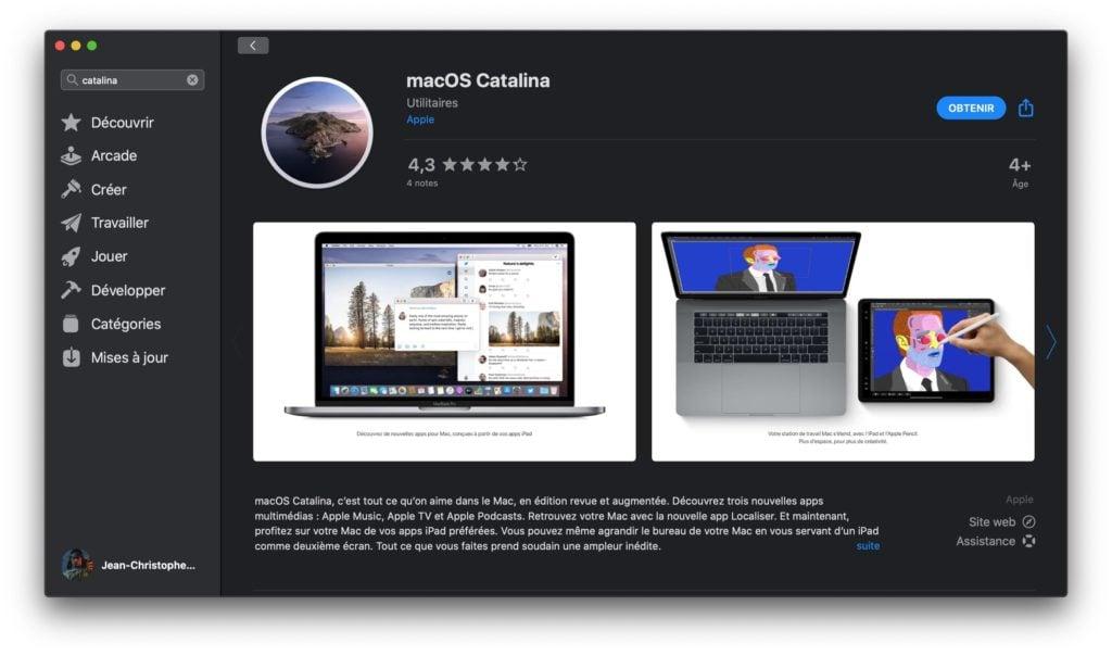 Telecharger le fichier dinstallation complet de macOS Catalina avec le Mac App Store