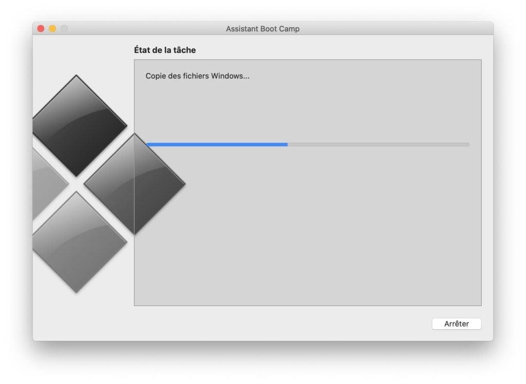 copie des fichiers Windows 10 pour Mac