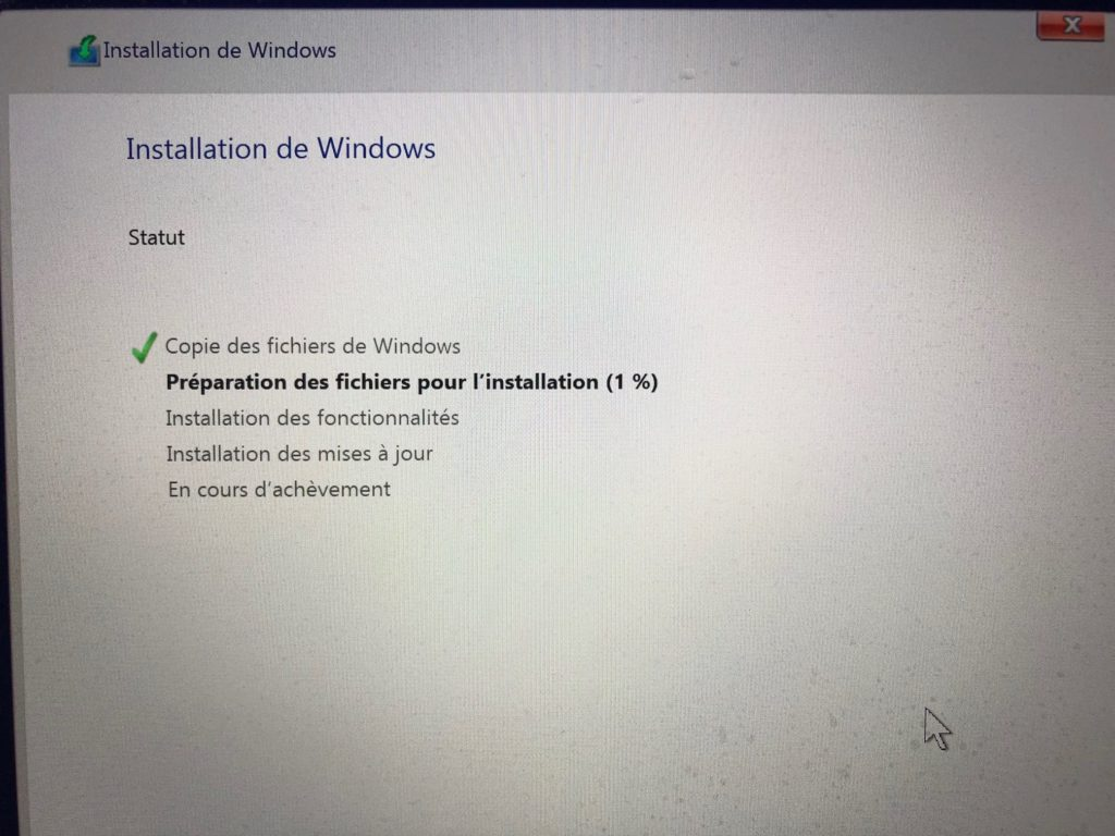 installer windows 10 dans une partition de macos catalina 10.15