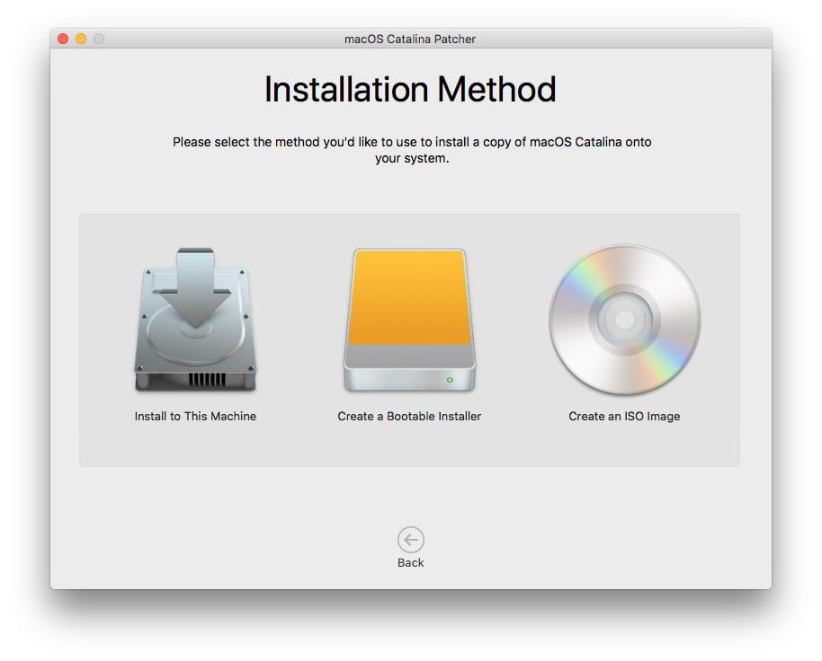macos catalina telechargement du fichier pour installation