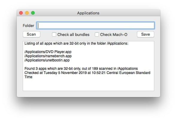 Identifier les apps 32 bits sur macOS Catalina 32-bitCheck