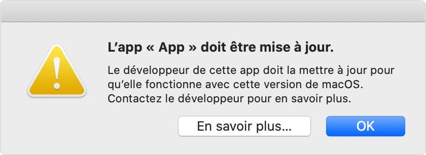 Identifier les apps 32 bits sur macOS Catalina