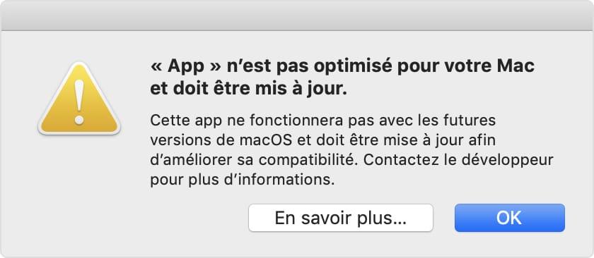 Identifier les apps 32 bits sur macOS