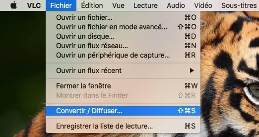 Convertir une video sur mac avec VLC Convertir diffuser