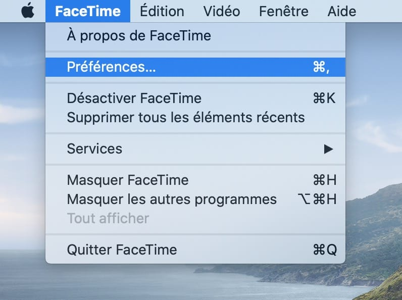 Facetime Preferences mac