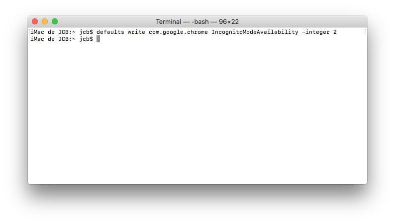 Lancer la navigation privee automatiquement pour Chrome Mac
