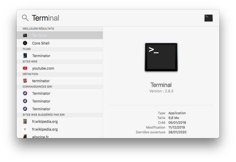 terminal pour modifier navigation privee chrome mac