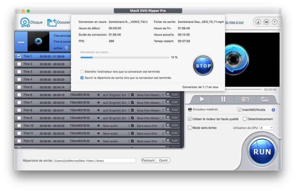 extraire dvd video sur mac