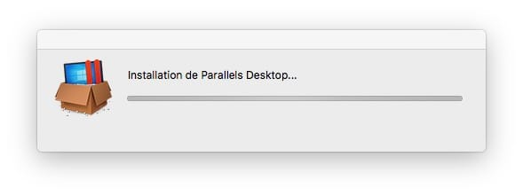 installation de Parallels Desktop pour installer Windows 10 sur Mac