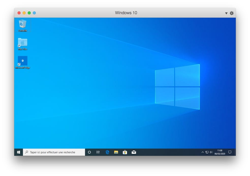 installation windows 10 sur mac reussie