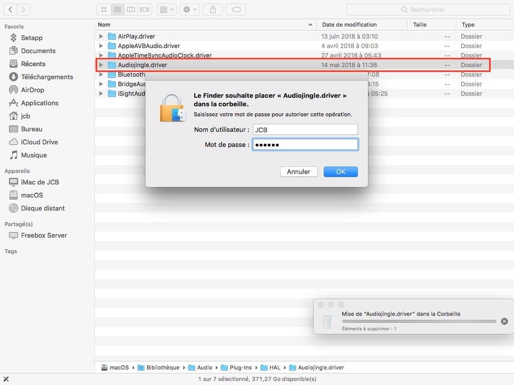 supprimer peripherique sortie audio mac