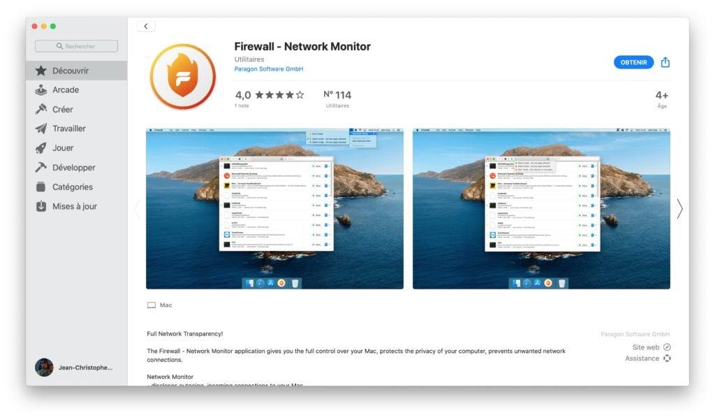 Paragon Firewall pour Mac app store
