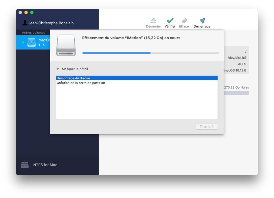 formatage ntfs pour mac