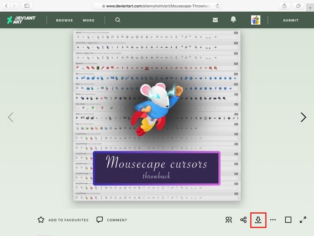 mousecape curosors mac