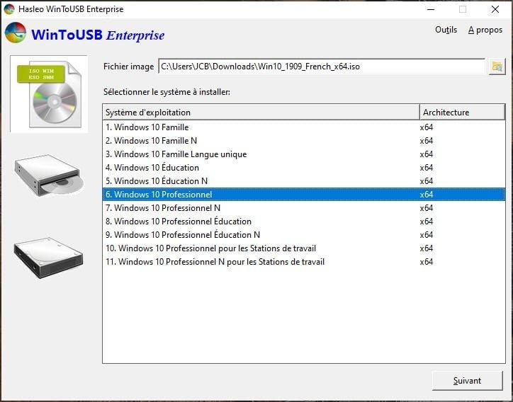 choisir la version de windows 10 a installer sur mac
