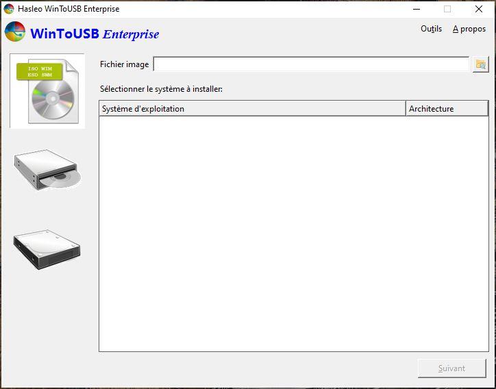 installer windows 10 sur stockage externe pour Mac avec wintousb