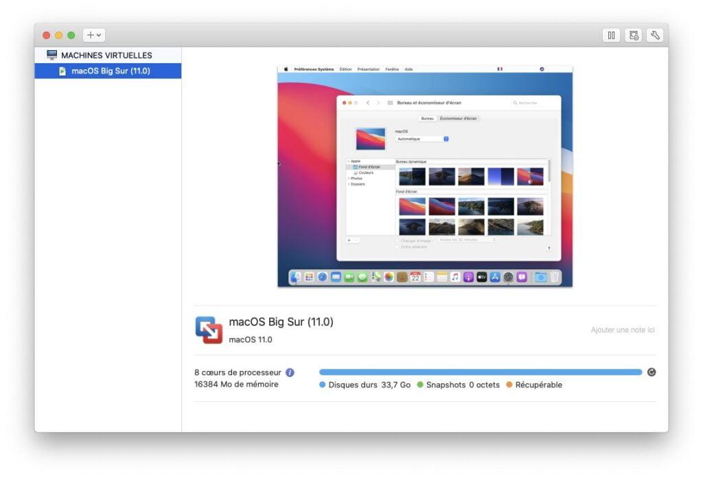Installation macOS Big Sur en virtualisation avec VMware fusion pour Mac