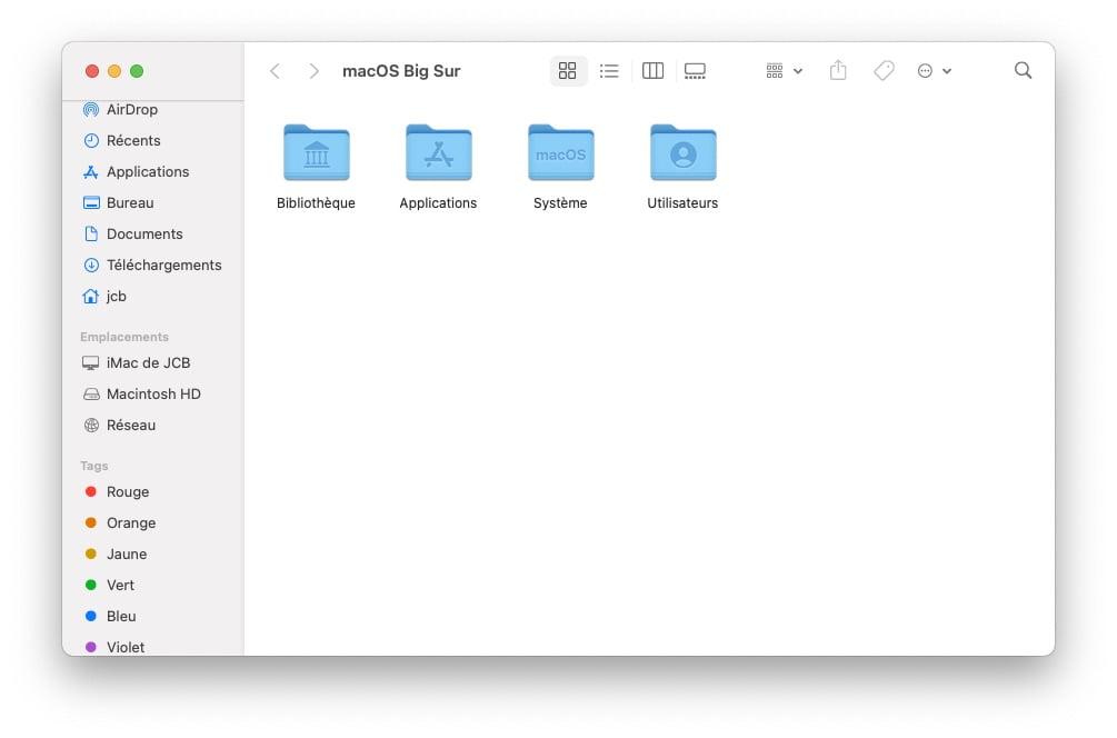 afficher fichiers caches macOS Big sur