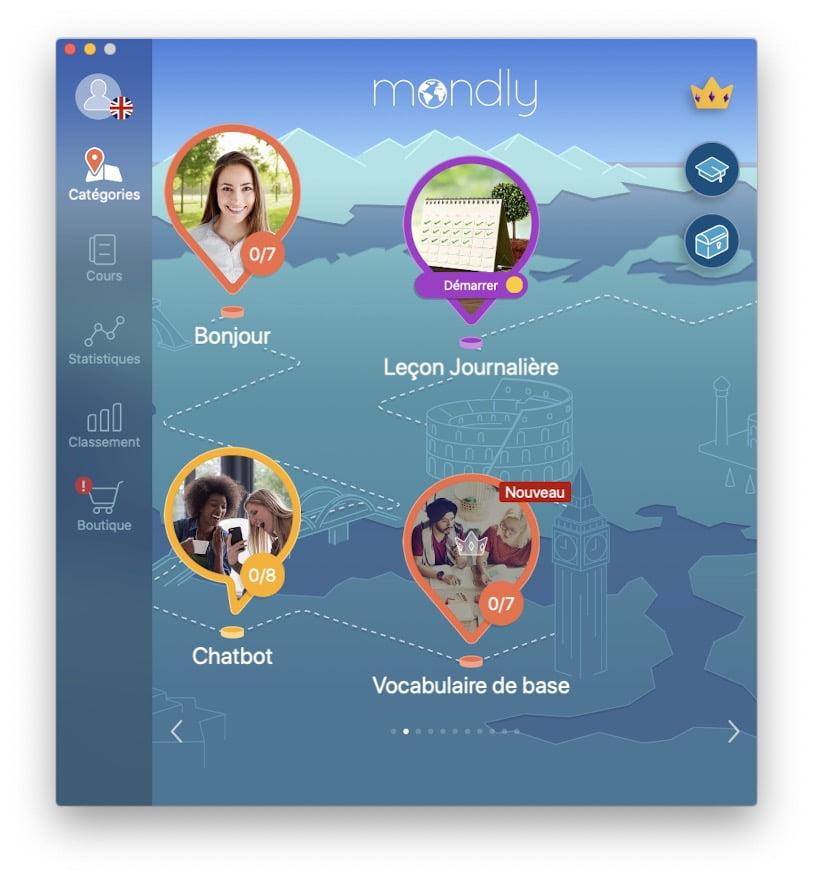 choisir thematique pour apprendre anglais sur mac