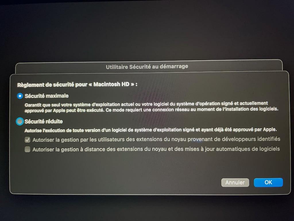 Apple Mac Silicon M1 securite maximale par defaut
