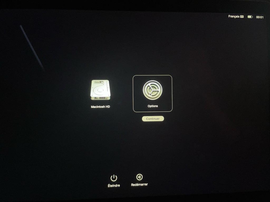lancer Utilitaire Securite au demarrage sur un Mac Apple Silicon