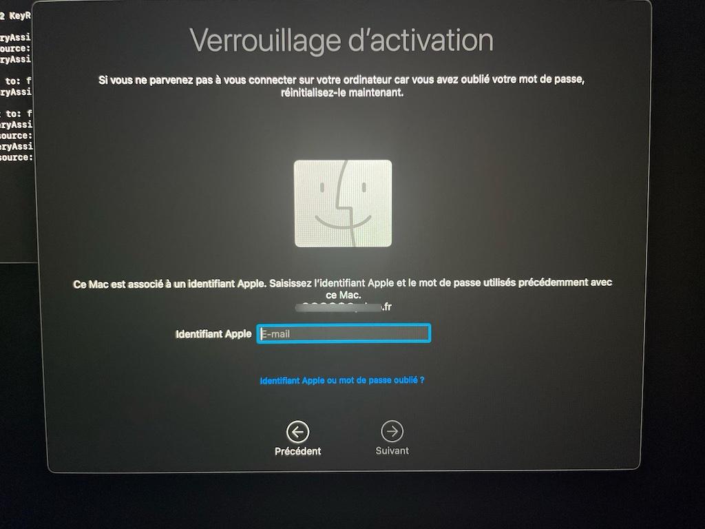 reset mac password macbook air pro m1